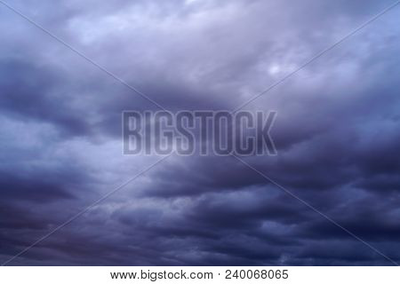 Storm Cloud And Dark Sky Background Before Thunder Storm