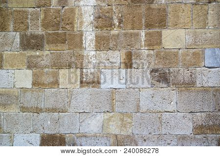 Stone Wall Streets Of Tower Of Pisa