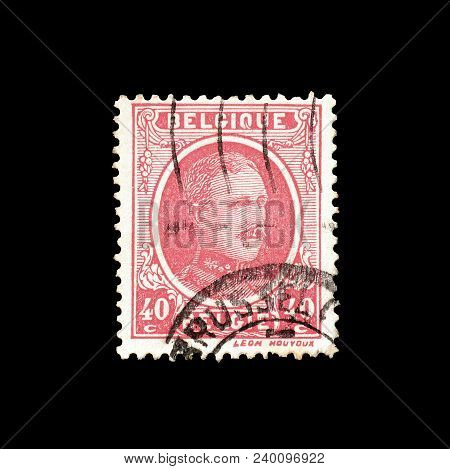 Belgium - Circa 1922 : Cancelled Postage Stamp Printed By Belgium, That Shows King Albert.