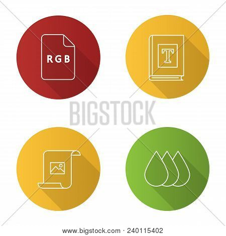 Printing Flat Linear Vector & Photo (Free Trial) | Bigstock