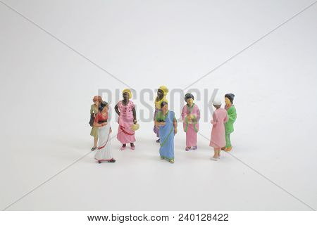 The Group Of Mini Figure Of Foreigner