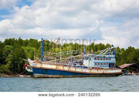 Fishing Boat In Krabi Thailand