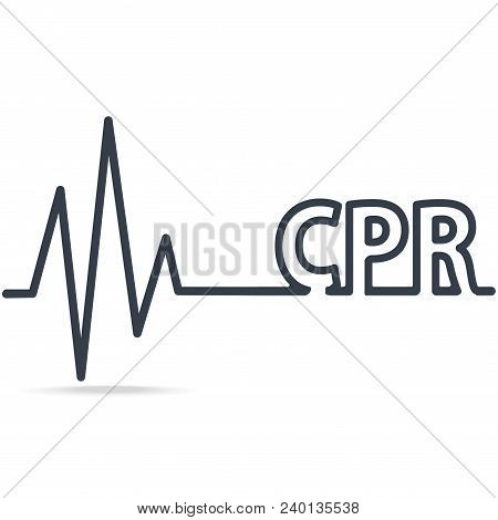 Cpr, Cardiopulmonary Resuscitation, Simple Line Icon. Medical Sign Icon