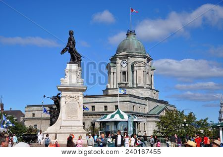 Quebec City, Canada - Sep 10, 2011: Old Quebec City Post Office In Upper City (haute-ville) In Quebe