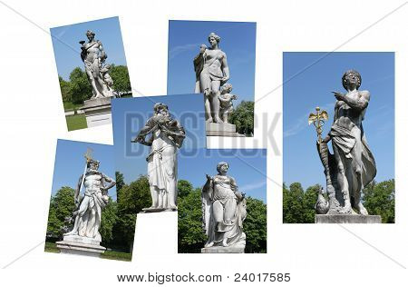 statue collage