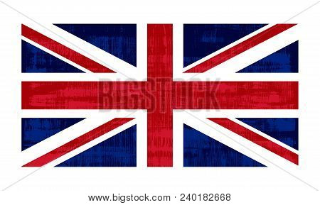 Great Britain Flag Isolated On White Background. United Kingdom Of Great Britain And Ireland. Vector