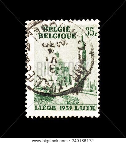 Belgium - Circa 1929 : Cancelled Postage Stamp Printed By Belgium, That Shows Liege.