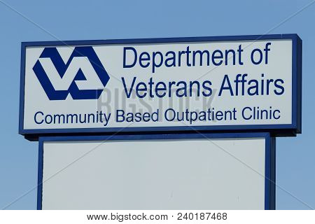 Peru - Circa May 2018: Veterans Affairs Outpatient Clinic. In An Effort To Bring Health Care Closer