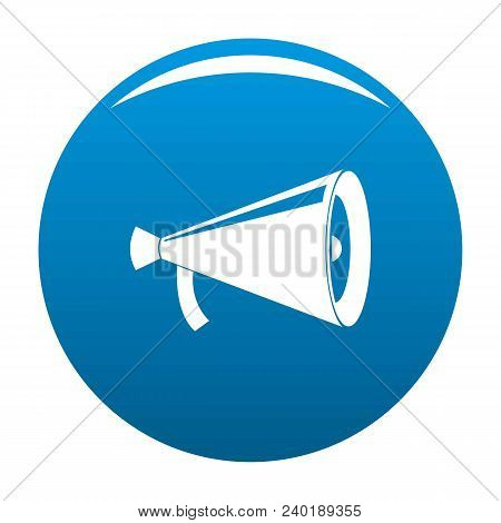Megaphone With Handle Icon. Simple Illustration Of Megaphone With Handle Vector Icon For Any Design