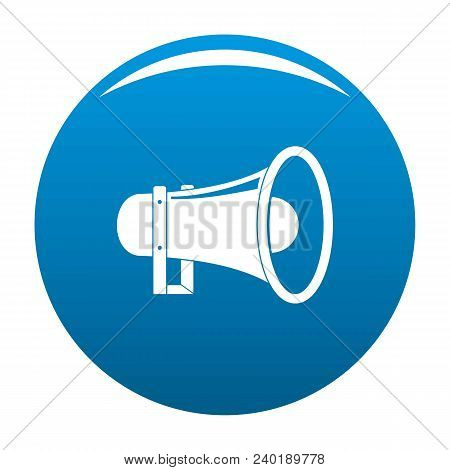 Sound Of Megaphone Icon. Simple Illustration Of Sound Of Megaphone Vector Icon For Any Design Blue