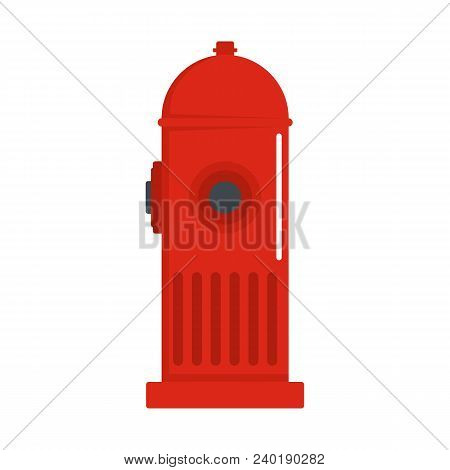 Fire Column Icon. Flat Illustration Of Fire Column Vector Icon For Web