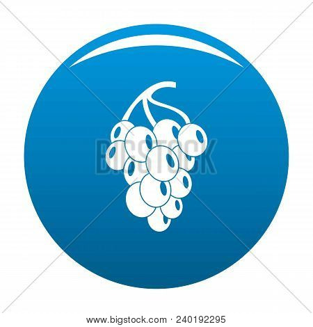 Dark Grape Icon. Simple Illustration Of Grape Grape Vector Icon For Any Design Blue