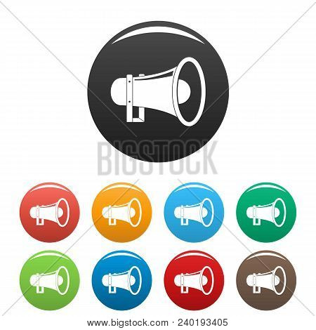 Sound Of Megaphone Icon. Simple Illustration Of Sound Of Megaphone Vector Icons Set Color Isolated O