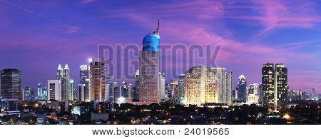 Jakarta City Sunset