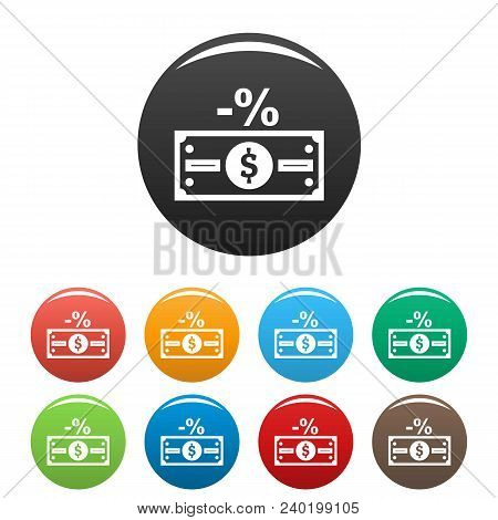 Pay Tax Icon. Simple Illustration Of Pay Tax Vector Icons Set Color Isolated On White