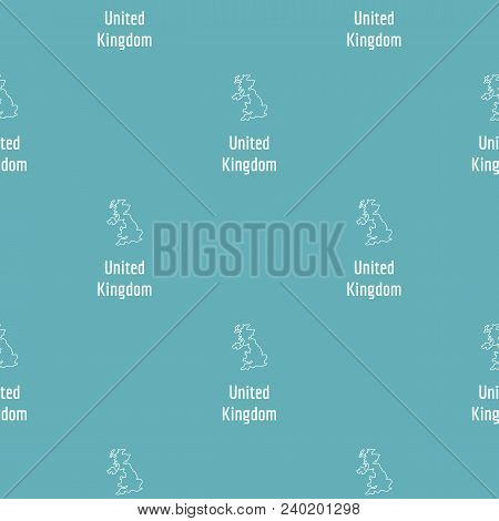 United Kingdom Map Thin Line. Simple Illustration Of United Kingdom Map Vector Isolated On White Bac