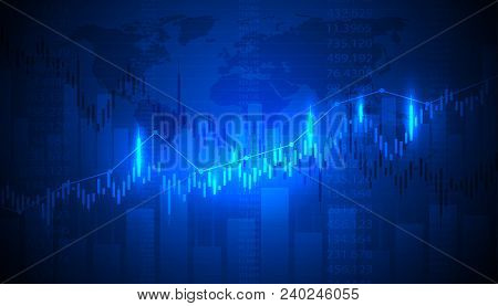 Economic Graph With Diagrams On The Stock Market, For Business And Financial Concepts And Reports.ab