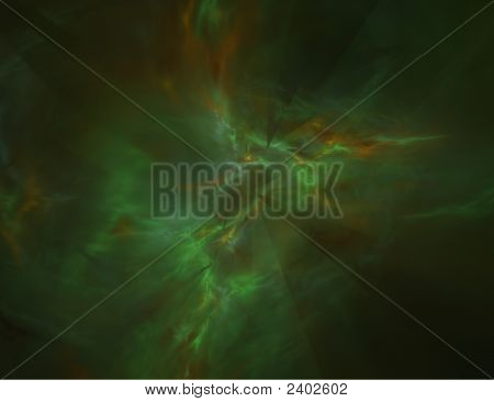 Abstract Alien Gas Cloud Formation In Space