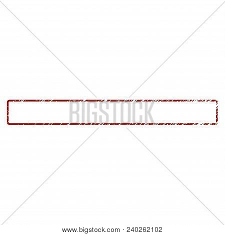 Rounded Rectangle Frame Distress Textured Template. Vector Draft Element With Grainy Design And Corr