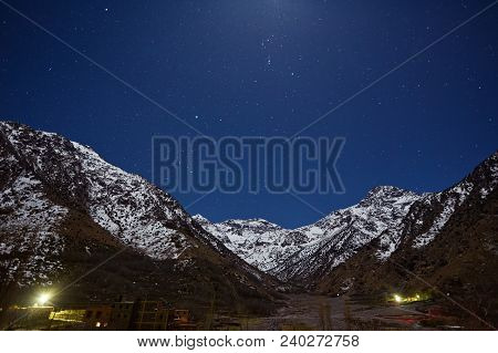 Kasbah Du Toubkal, Imlil In The Atlas Mountains Morocco, Night Photo