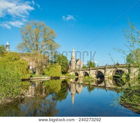 English Bridge, Shrewsbury. Taken On A May Bank Holiday Weekend.