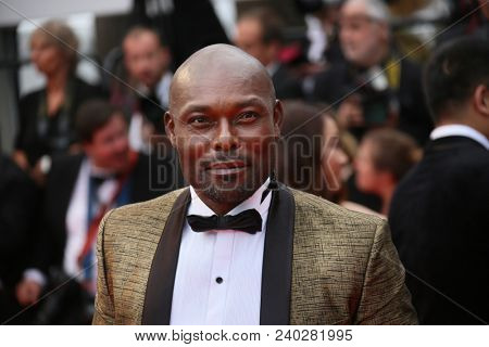 Jimmy Jean Louis  attends the screening of 'Sorry Angel' during the 71st annual Cannes Film Festival at Palais des Festivals on May 10, 2018 in Cannes, France.