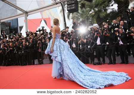 Josephine Skriver  attends the screening of 'Sorry Angel' during the 71st annual Cannes Film Festival at Palais des Festivals on May 10, 2018 in Cannes, France.