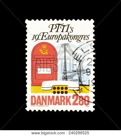 Denmark - Circa 1986 : Cancelled Postage Stamp Printed By Denmark, That Promotes 19th International
