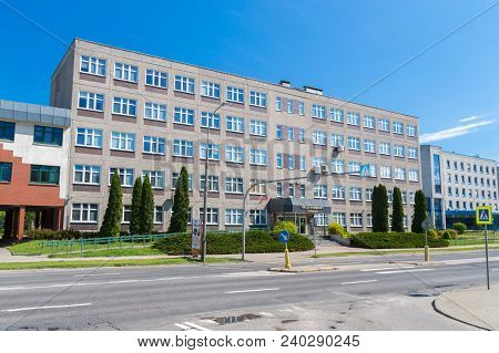 Olsztyn, Poland - May 1, 2018: Building Of Revenue Service Belong To Ministry Of Finance Of Poland.