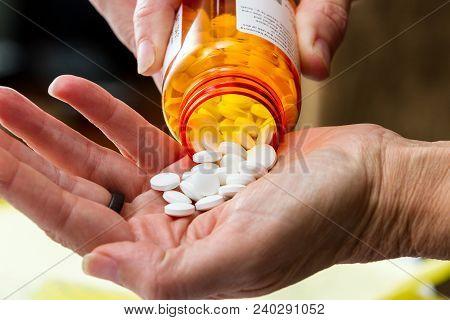 Prescription Pills Close Up