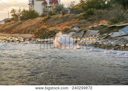 Autumn Black Sea Off The Coast Of The Primorsky