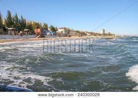 Embankment In The City Of Feodosiya