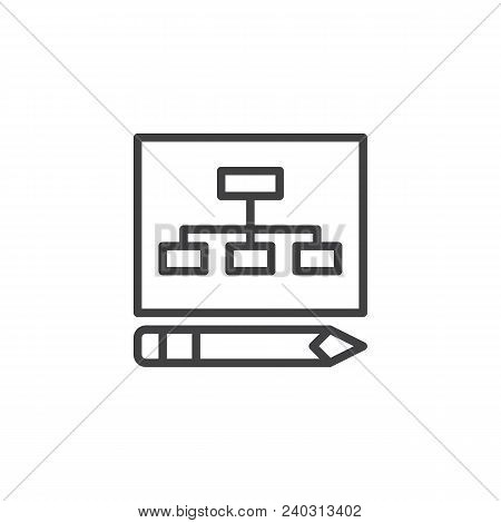 Business Plan Outline Icon. Linear Style Sign For Mobile Concept And Web Design. Planning Simple Lin