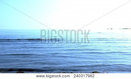 Wave In The Sea, Blue Sea, Beautiful Sea, Blue Sea Background