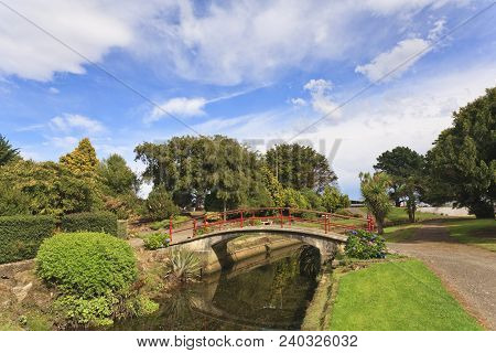 Scene At Otepuni Gardens, Invercargill, Southland New Zealand
