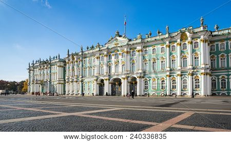 The Winter Palace In Saint-petersburg, Russia, Was The Official Residence Of The Russian Monarchs. T