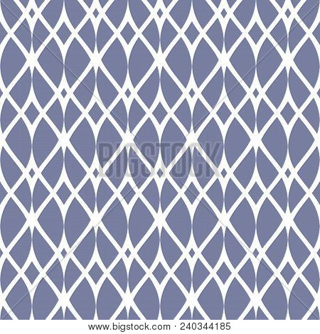 Vintage Seamless Pattern, Thin Wavy Lines, Elegant Mesh. Texture Of Lace, Weaving, Net, Smooth Latti