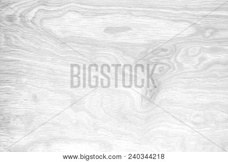 The White Wood Plank Texture For Background.