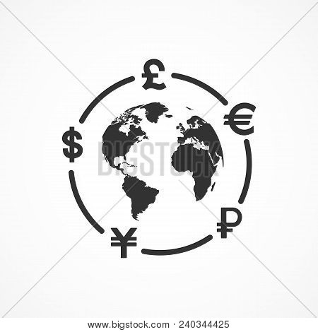 Vector Image Of Currency Exchange Icon.exchange Of Currency.