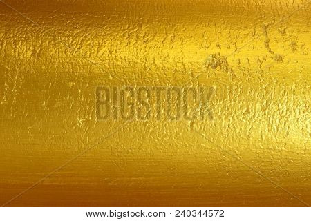 Gold Surface, Curved And Uneven Surface For The Background.