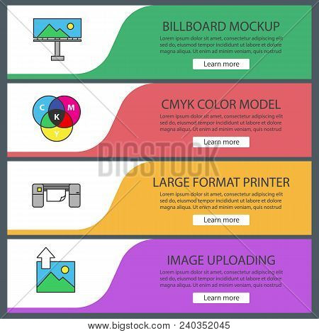 Printing Web Banner Vector & Photo (Free Trial) | Bigstock