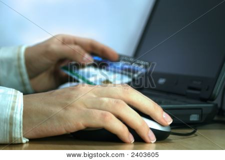 Businesswoman Buing Online