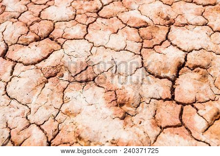 Cracked Ground, Earthquake Background, Texture Parched Earth