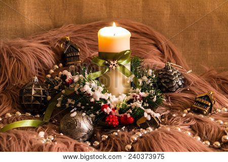 New Year's Still-life With Candle