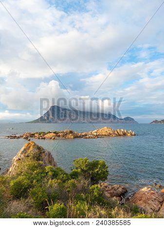 Coastal Scene Of Sardinia Looking Over Isola Tavolara