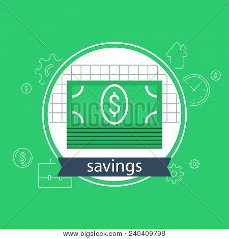Banking Services, Financial Strategy Concept, Return On Investment, Budget Planning, Income Growth,
