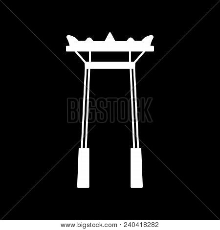 Giant Swing Icon. Silhouette Giant Swing Vector Icon For Web Design Isolated On Black Background