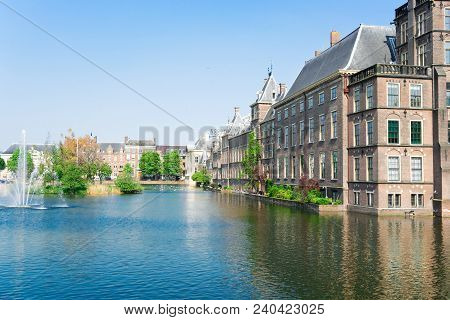 View Of Binnenhof - Dutch Parliamentat Summer, The Hague, Holland