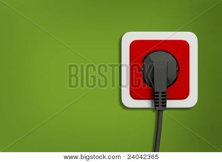 electric socket on wall