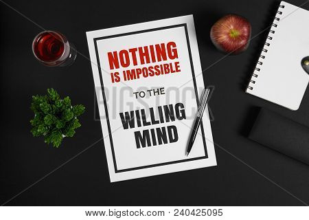 Motivational And Inspirational Quote. Self Help And Improvement Wisdom Quote.